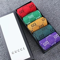 G Men Fashion Casual Sport 100% Cotton Socks+Gift Box
