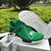 ADIDAS X PHARRELL PW HUMAN RACE NMD BB3070 BOOST GREEN Running shoes for Women & Men S