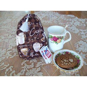Cafe Latte Coffee Cup Cozy Cover