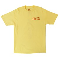 The Time Is Now yellow graphic (front & back) tee by Altru Apparel