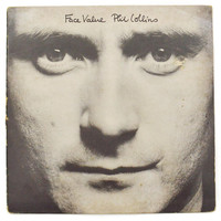 Vintage 80s Phil Collins Face Value Gatefold Pop Rock Album Record Vinyl LP