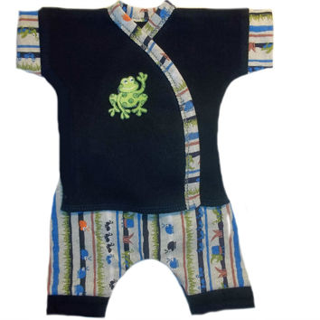 Baby Boys' Happy Frog and Bugs Shorts 2 Piece Clothing Set