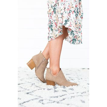 Faithful Ankle Bootie - Taupe