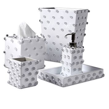 Roxy White Bath Accessories by Mike + Ally