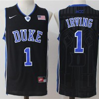 Best Sale Online NCAA University Basketball Jersey Duke Blue Devils # 1 Kyrie Irving Black