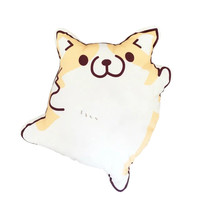 1pc 45cm Cartoon Figure Corgi Plush Pillows Stuffed Cute Animal Plush Cushion Kids Toys Birthday Gift
