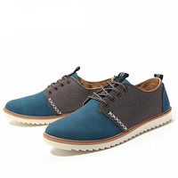 Men's Breathable Canvas Lace Up Loafers