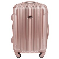 """kensie 20"""" """"Alma"""" Carry-On TSA-Lock Spinner Luggage, Rose Gold 20-Inch"""