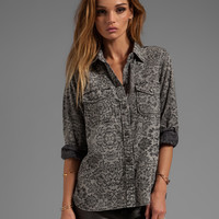 Current/Elliott The Perfect Shirt in Black Lace