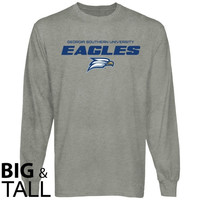 Georgia Southern Eagles On Point Big and Tall Long Sleeve T-Shirt - Ash