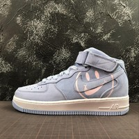 Nike Air Force 1 Mid AF1 Space Purple Have A Nike Day Fashion Shoes - Best Online Sale