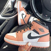 NIKE Air jordan 1 AJ1 men women color block high-top sneakers Shoes