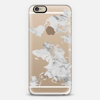 Marble World Map II iPhone 6 case by BySamantha \ Samantha Ranlet | Casetify