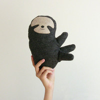 Plush Sloth Doll stuffed animal plush dolls - Fauna Friends Collection by Fawn and Sea - handmade with eco friendly felt & fill