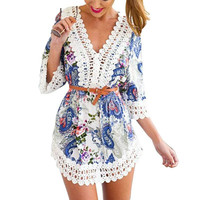 Blue Paisley Sundress