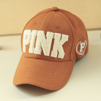 "2016 "" Pink "" Printed Multi Color Cotton Casual Simple Hip-hop Weekend Curved Peak Trucker Baseball Cap Hat _ 9328"