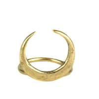 Torchlight Crescent Ring Brass