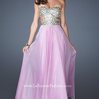 Long Strapless Sweetheart Neckline Prom Gown by La Femme