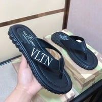 Valentino Men Casual Sandals slippers Shoes Boots fashionable casual leather Sandals slippers