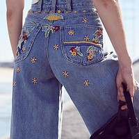 Free People Courter Embroidered Flare