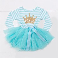 2018 Winter Baby Girls 1st Birthday Dress Children Clothing Girls Infant Princess Tutu Dress For Girl Clothes Size 1 2 3 Years