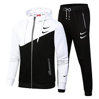 Nike Trending Women Men Long Sleeve Shirt Sweater Pants Sweatpants Set Two-Piece Sportswear