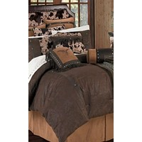 Cowgirl Kim Caldwell Faux Tooled Leather Comforter Set