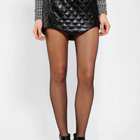 Cameo Here With Me Quilted Vegan Leather Skirt - Urban Outfitters