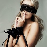 On Sale Cute Sexy Hot Deal Sex Toy Black Lace Eyemask Accessory Exotic Lingerie [9157100995]