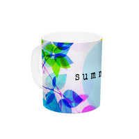 "Sreetama Ray ""Seasons Summer"" Rainbow Leaves Ceramic Coffee Mug"