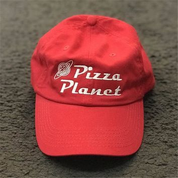 New Pizza Planet Hat Baseball Cap For Women and Man Dad Hat Summer Sun Pizza Cotton Snapback Embroidery Sport Cap Casual Brand