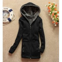 Womens Thicken Hoodie Outerwear Jacket Coat Casual 1308 China Wholesale - Sammydress.com