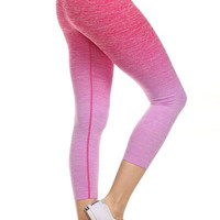 Yoga Capri Pants - Dark Pink