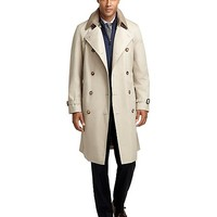 Double-Breasted Khaki Trench - Brooks Brothers