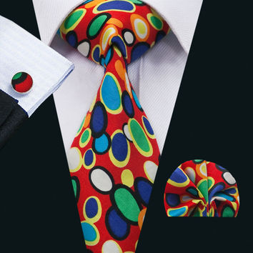 New Arrival Fashion Colorful Cotton Ties For Men High Quality Necktie Hank Cuff links Set For Wedding Party