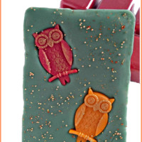 Scented Wax Melts-Clamshell-Autumn Owls