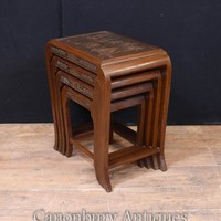 Canonbury - Chinese Antique Nest of Tables Side Table Hardwood Circa 1900