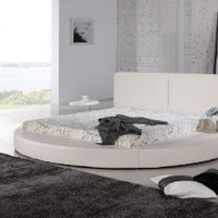 Oslo Round Bed Queen Size (White).