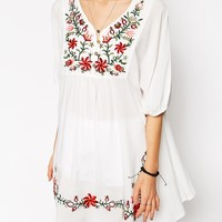 ASOS Reclaimed Vintage Dress With Embroidery