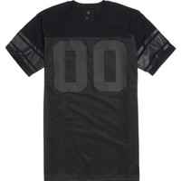 On The Byas Brian Mesh Crew T-Shirt - Mens Tee - Black -
