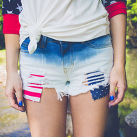 Firecracker High Rise Shorts