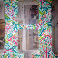 Lilly Pulitzer inspired painted letters