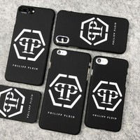 NEW PHILIPP PLEIN PATTERN FASHION BRAND HARD PHONE BACK CASE IPHONE 5 to 8 PLUS