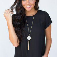 Rolled Sleeve Everly Top - Black
