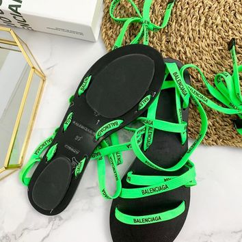 BALENCIAGA ribbon weaving Fashion casual sandals