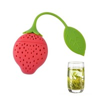 Silicone Strawberry Tea Infuser Loose Leaf Tea Strainer Infuser