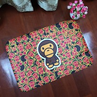 Channel Bathroom Decor Carpet Floor Mats Bape Rug Monkey Rugs And Carpets Modern Area Rug For Living Room Home Tapetes De Sala
