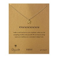 ommmmmmm, om charm necklace, gold dipped