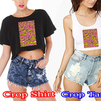 Odd Future 2 9ade6216-d2f2-4680-898d-3628591b7c93 For Crop Shirt and Crop Tank Sexy Shirt Women S, M, L, XL, 2XL*02*