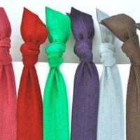 Soft Stretchy Yoga Headbands - Pick 6 - Women's Hair Tie Headbands - Emi Jay Like Hair Accessories - Knotted Hair Bands